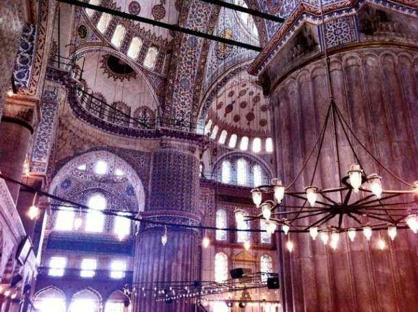 Istambul mesquita azul dentro
