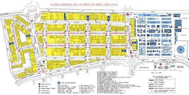 Mapa Feria Sevilha