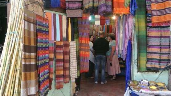 Marrakech souk tecidos