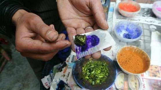Marrakech souk tintureiros