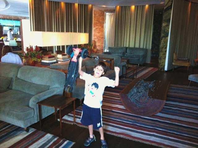 Fasano kids lounge lobby