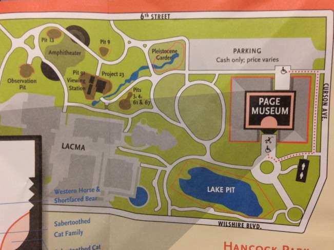 Los Angeles Tar Pit mapa