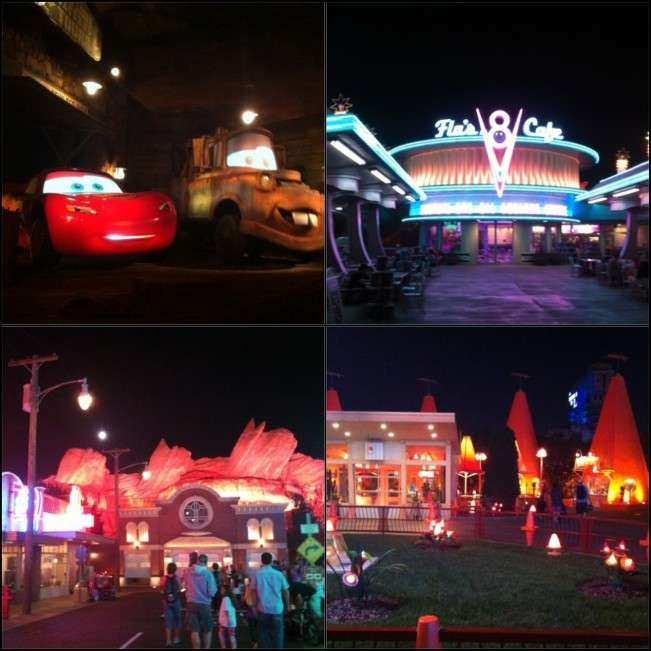 CA Disney Carros noite final