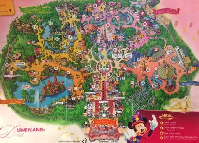 Disneyland Park mapa