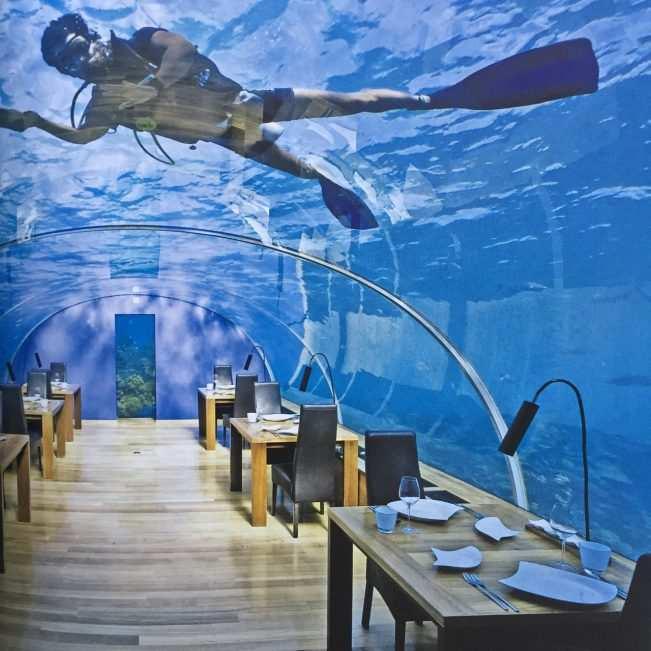 restaurante debaixo dagua hotel maldivas